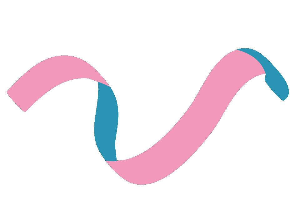 Veera-hankkeen V- logo, värillinen pinkki-turkoosi